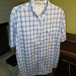 Calvin Klein Classic Fit Button-down shirt, sz XL